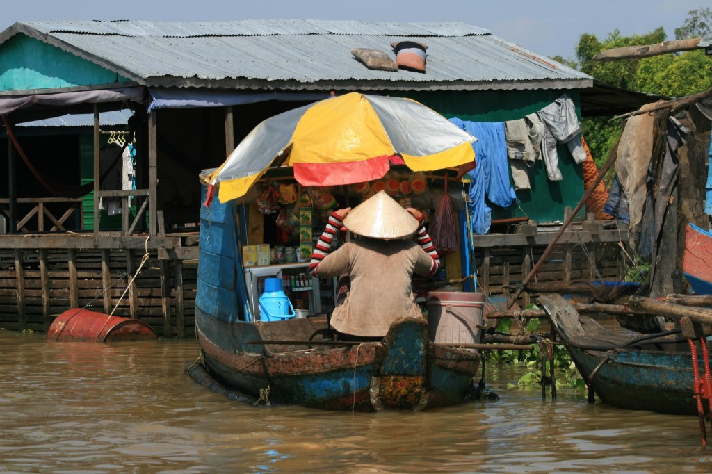 Schwimmende Dörfer Tonle Sap See