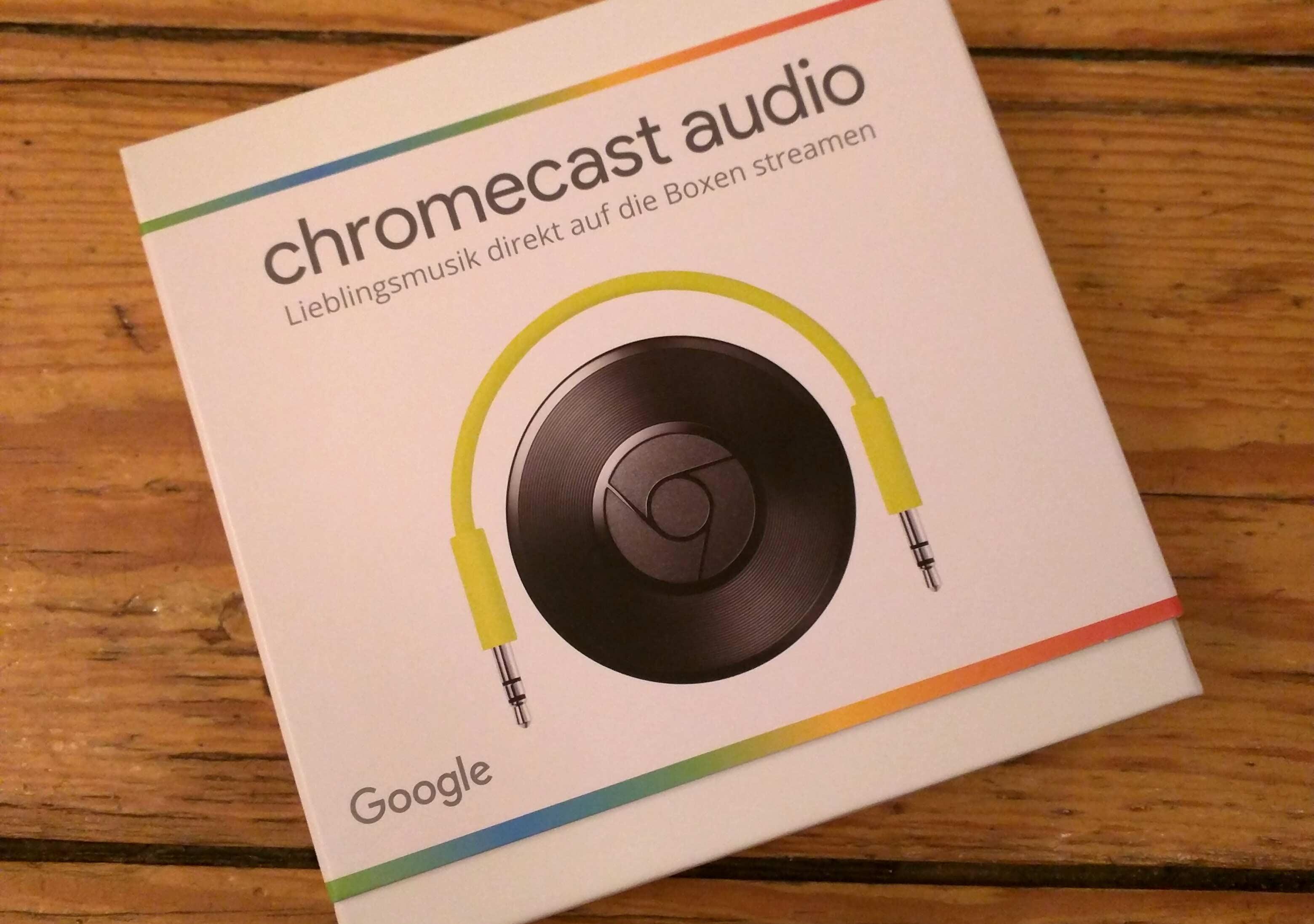 Google Chromecast Audio: Verpackung