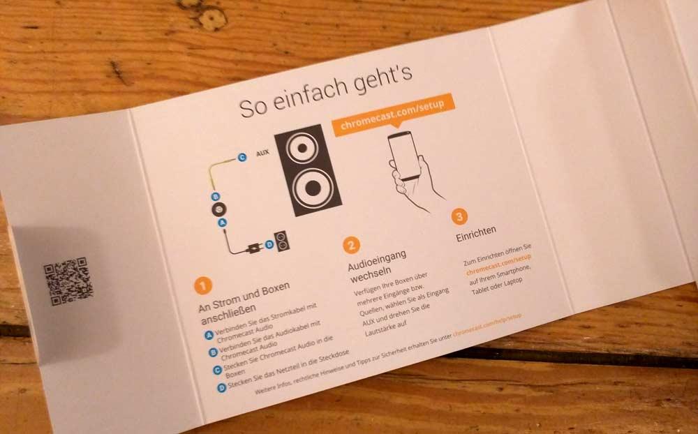 Google Chromecast Audio: Anleitung