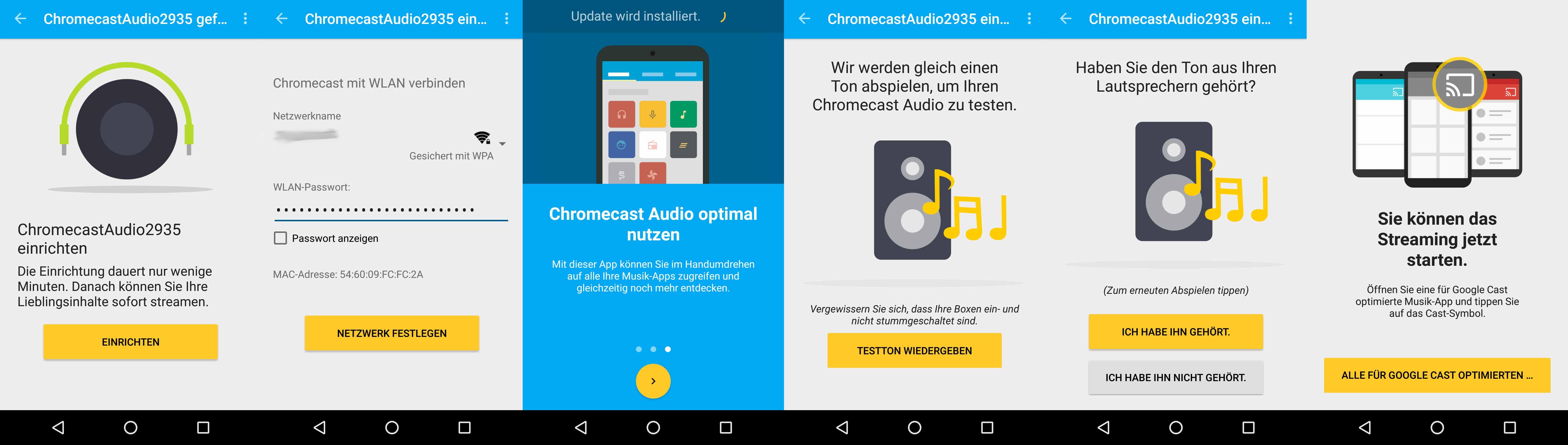 Google Chromecast Audio: Schritte der Einrichtung
